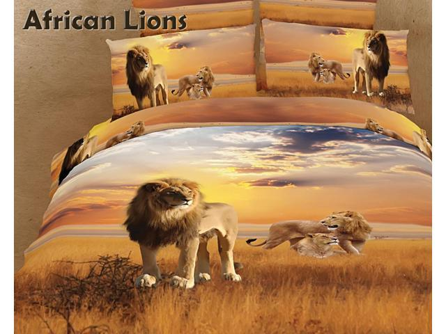 Safari Themed Luxury Queen Bedding Duvet Cover Set Dolce Mela DM456Q