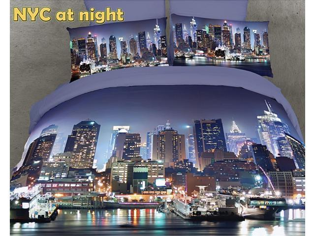 King Bed Luxury Duvet Cover Set City Themed Dolce Mela DM457K