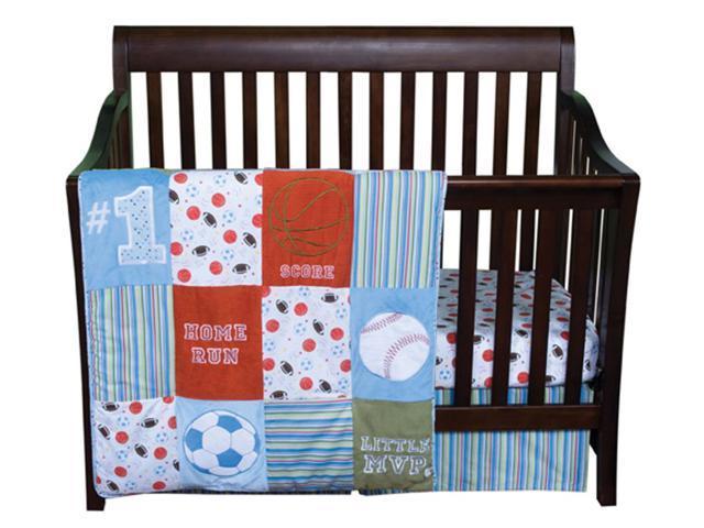 Trend Lab 3 Piece Baby Infant Nursery Cradle Bassinet Mvp Crib Bedding Set