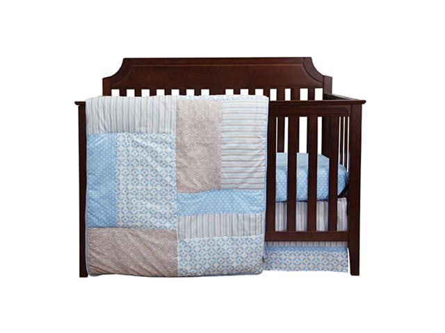 Trend Lab 3 Piece Baby Infant Nursery Sleeping Room Cradle Bassinet Mattress Decorative Logan Crib Bedding Set