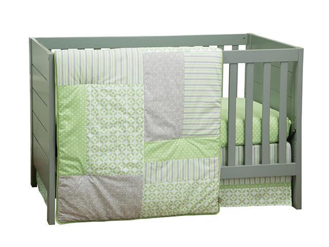 Trend Lab 3 Piece Baby Infant Nursery Sleeping Room Cradle Bassinet Mattress Decorative Lauren Crib Bedding Set