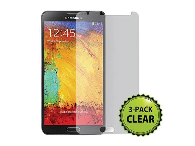 Screen Protector (3-Pack) w/Cleaning Cloth Samsung Galaxy Note 3-Transparent