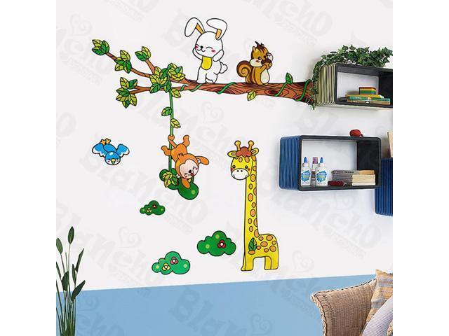 Home Kids Imaginative Art Giraffe Friends-X-Large Wall Decorative Decals Appliques Stickers