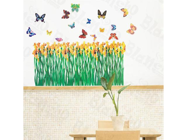 Home Kids Imaginative Art Flying Butterflies 3-X-Large Wall Decorative Decals Appliques Stickers