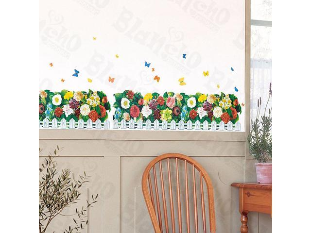 Home Kids Imaginative Art Flourish Fence-X-Large Wall Decorative Decals Appliques Stickers