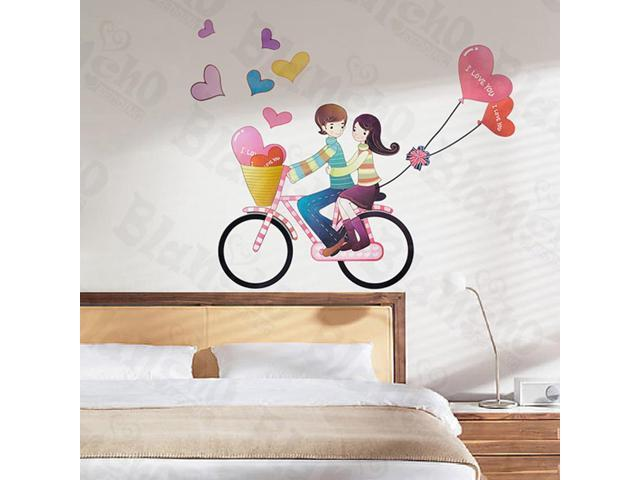 Home Kids Imaginative Art Bick Couple-X-Large Wall Decorative Decals Appliques Stickers