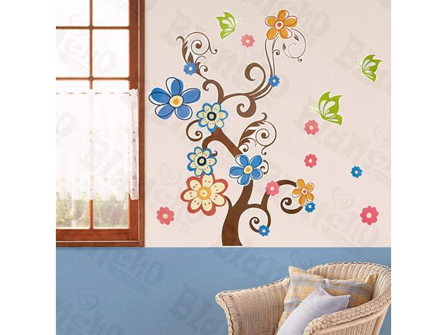 Home Kids Imaginative Art Sheep & Tree-X-Large Wall Decorative Decals Appliques Stickers