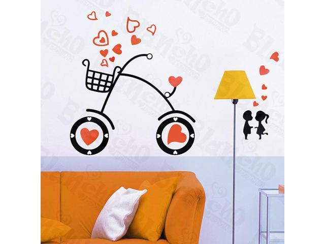 Home Kids Imaginative Art Sweet Bicycling-X-Large Wall Decorative Decals Appliques Stickers