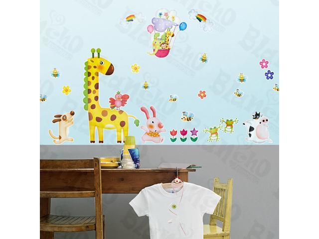 Home Kids Imaginative Art Zoo Party 2-X-Large Wall Decorative Decals Appliques Stickers