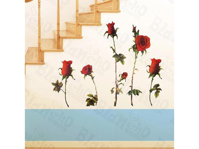 Home Kids Imaginative Art Redness Rose-X-Large Wall Decorative Decals Appliques Stickers