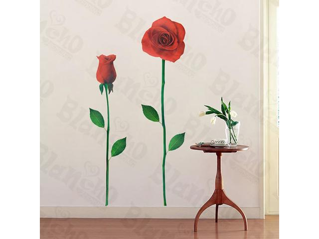 Home Kids Imaginative Art Glorious Rose 2-X-Large Wall Decorative Decals Appliques Stickers