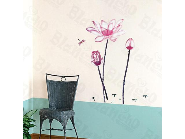 Home Kids Imaginative Art Pink Lily-X-Large Wall Decorative Decals Appliques Stickers