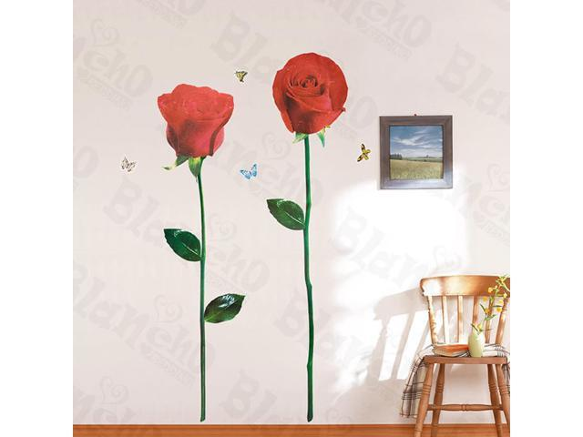 Home Kids Imaginative Art Glorious Rose 3-X-Large Wall Decorative Decals Appliques Stickers