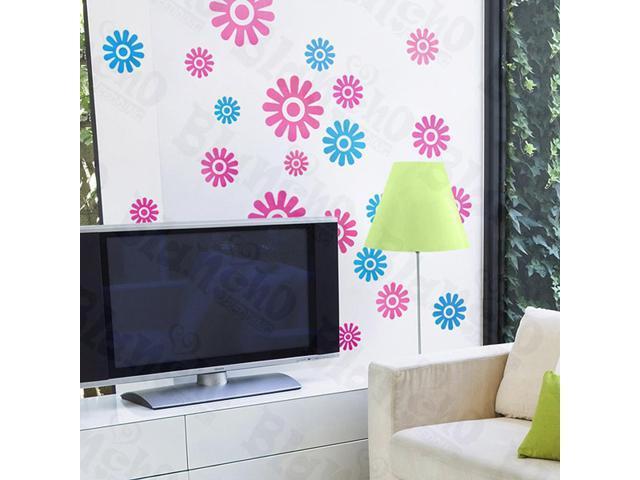 Home Kids Imaginative Art Color Petals-X-Large Wall Decorative Decals Appliques Stickers