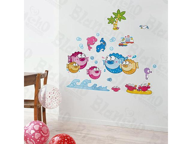 Home Kids Imaginative Art Tropical Fish 3-X-Large Wall Decorative Decals Appliques Stickers
