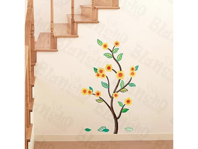 Home Kids Imaginative Art Flower And Leaf - Medium Wall Decorative Decals Appliques Stickers