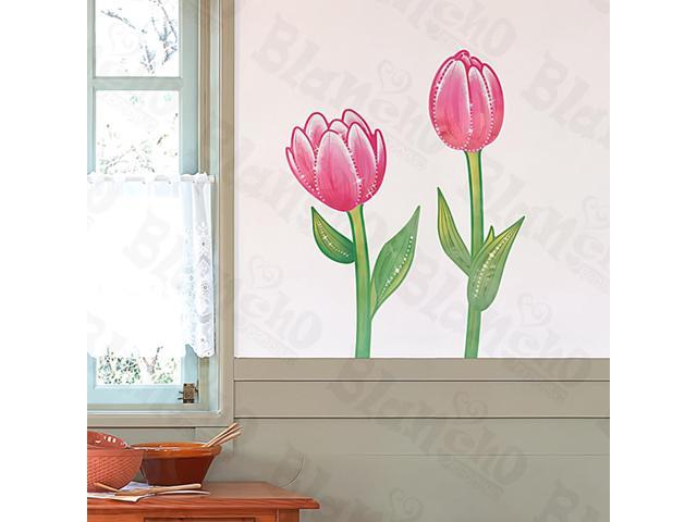 Home Kids Imaginative Art Red Lotus - Medium Wall Decorative Decals Appliques Stickers
