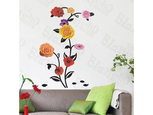 Home Kids Imaginative Art Rose Blossom - Wall Decorative Decals Appliques Stickers