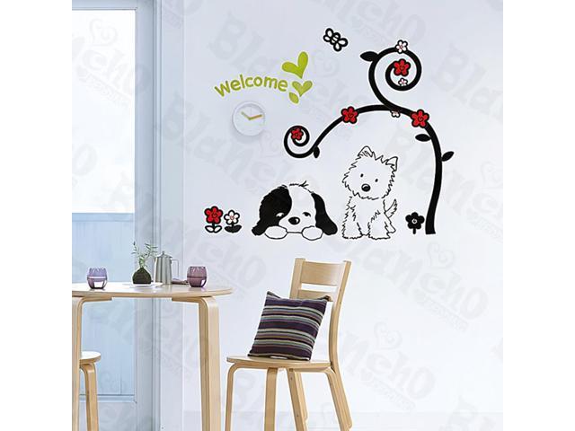 Home Kids Imaginative Art Pets Love - Medium Wall Decorative Decals Appliques Stickers