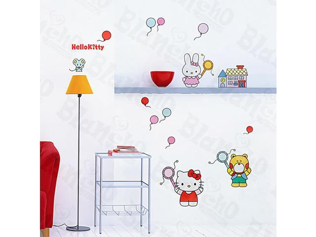 Home Kids Imaginative Art Hello Kitty-1 - Medium Wall Decorative Decals Appliques Stickers