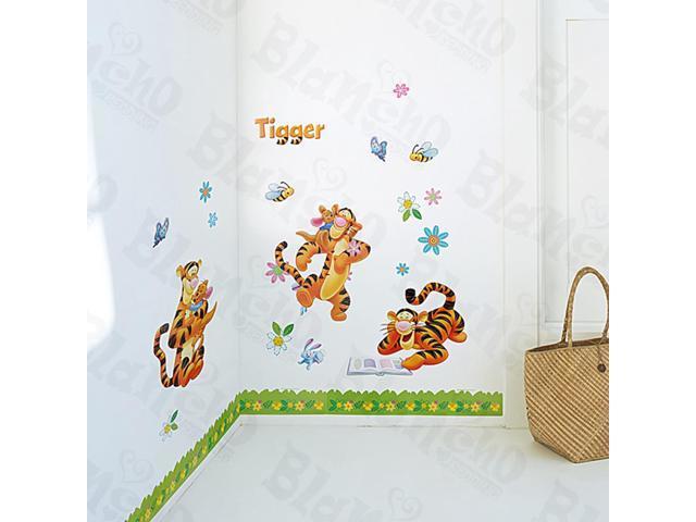 Home Kids Imaginative Art Winnie The Pooh-3 - Medium Wall Decorative Decals Appliques Stickers