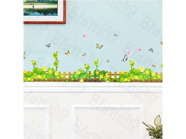 Home Kids Imaginative Art Spring Fence - X-Large Wall Decorative Decals Appliques Stickers