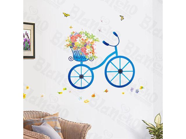 Home Kids Imaginative Art Bicycle Date - X-Large Wall Decorative Decals Appliques Stickers