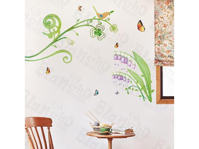 Home Kids Imaginative Art Butterflies And Ivy - X-Large Wall Decorative Decals Appliques Stickers