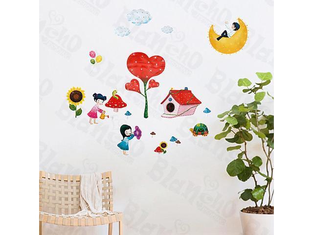 Home Kids Imaginative Art Playground - Medium Wall Decorative Decals Appliques Stickers