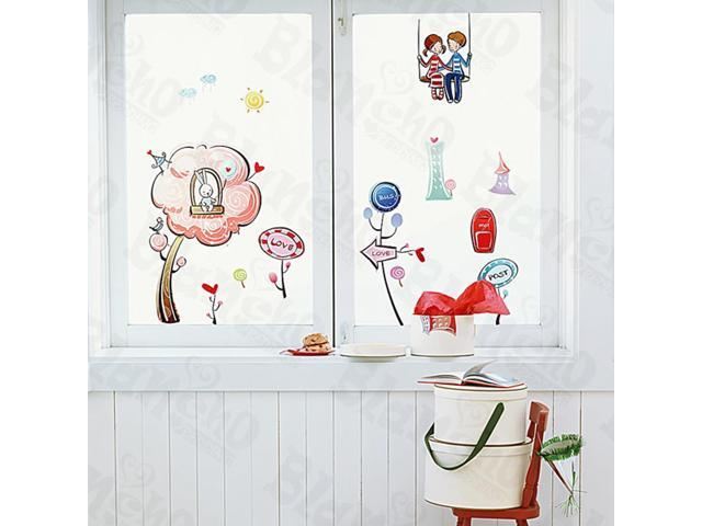 Home Kids Imaginative Art Shall We?-1 - Medium Wall Decorative Decals Appliques Stickers