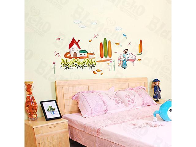 Home Kids Imaginative Art Shall We?-2 - Medium Wall Decorative Decals Appliques Stickers