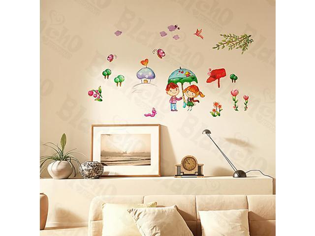 Home Kids Imaginative Art Shall We?-3 - Medium Wall Decorative Decals Appliques Stickers