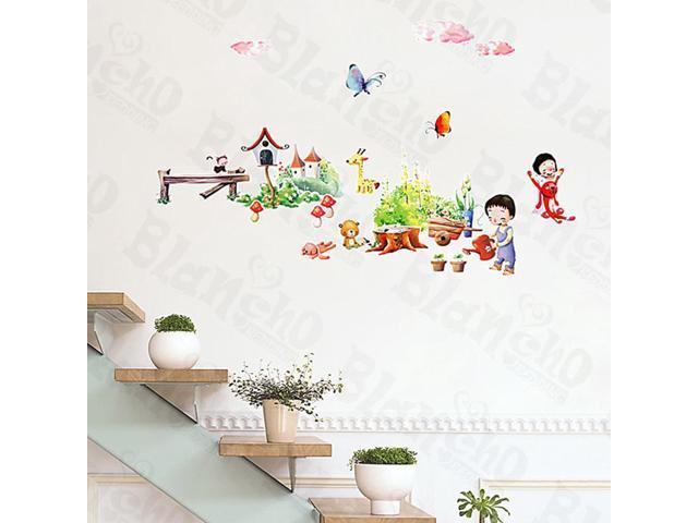 Home Kids Imaginative Art Plant Fun-1 - Medium Wall Decorative Decals Appliques Stickers