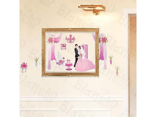 Home Kids Imaginative Art Just Married - Medium Wall Decorative Decals Appliques Stickers