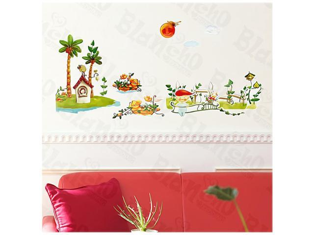 Home Kids Imaginative Art Sunny Day - Medium Wall Decorative Decals Appliques Stickers