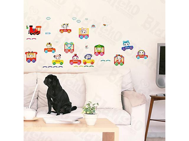 Home Kids Imaginative Art Chu Chu Train-2 - Medium Wall Decorative Decals Appliques Stickers