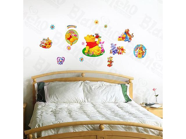 Home Kids Imaginative Art Winnie The Pooh-7 - Medium Wall Decorative Decals Appliques Stickers
