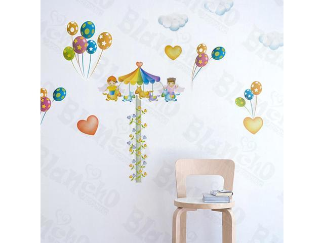 Home Kids Imaginative Art Festival - Large Wall Decorative Decals Appliques Stickers