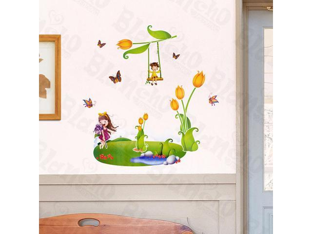 Home Kids Imaginative Art Imaginary Land - Large Wall Decorative Decals Appliques Stickers