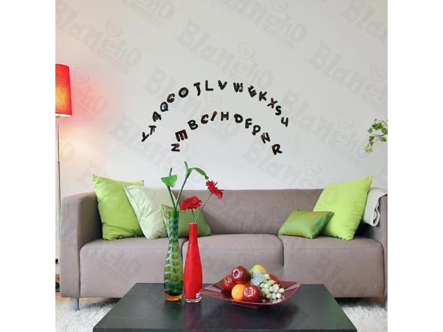 Home Bedroom Christmas Alphabet - Hemu  9.4 BY 16.5 Inches Wall Decorative Decals Appliques Stickers