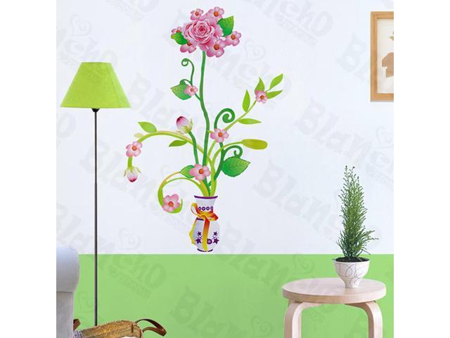 Home Kids Imaginative Art Delightful Flowerpot - Wall Decorative Decals Appliques Stickers
