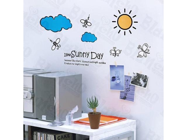 Home Kids Imaginative Art Forever Sunny - Wall Decorative Decals Appliques Stickers