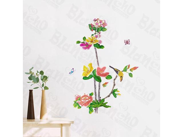 Home Kids Imaginative Art Astonishing Flowers - Wall Decorative Decals Appliques Stickers