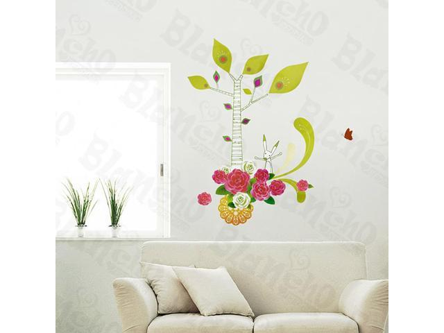 Home Kids Imaginative Art Bright Flowers - Wall Decorative Decals Appliques Stickers