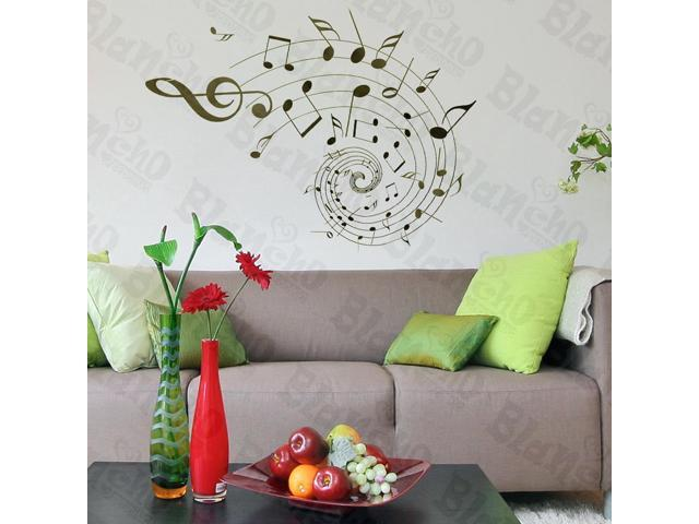 Home Kids Imaginative Art Rotation Of The Notes - Wall Decorative Decals Appliques Stickers