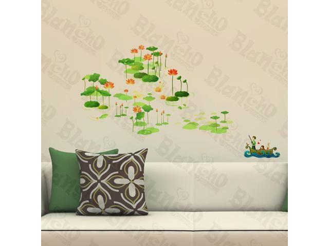 Home Kids Imaginative Art Attractive Lotus - Wall Decorative Decals Appliques Stickers