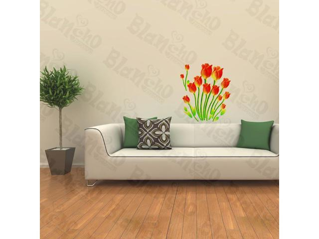 Home Kids Imaginative Art Enthusiasm Of Tulips - Wall Decorative Decals Appliques Stickers