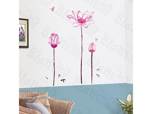 Home Kids Imaginative Art Lily Blossom - Wall Decorative Decals Appliques Stickers