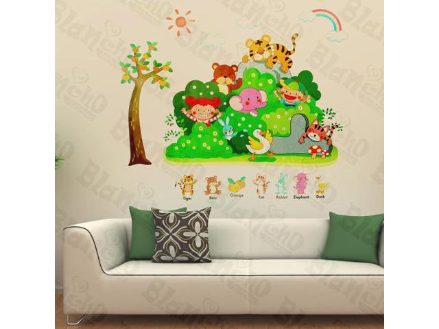 Home Kids Imaginative Art Animals' Party - Wall Decorative Decals Appliques Stickers