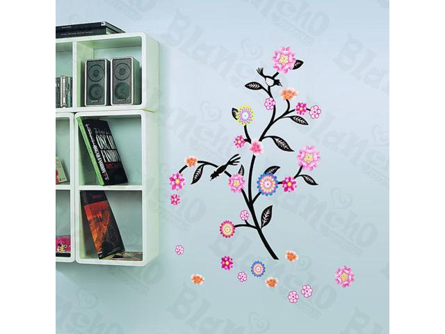Home Kids Imaginative Art Swing Flowers - Wall Decorative Decals Appliques Stickers